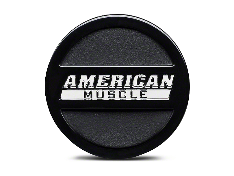 Black AmericanMuscle Center Cap - Large