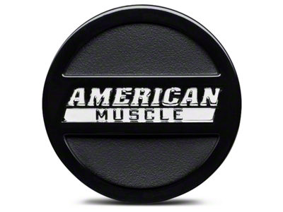 Black American Muscle Center Cap - Large
