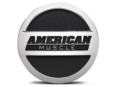 Chrome American Muscle Center Cap - Large