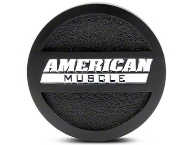 Matte Black American Muscle Center Cap - Large