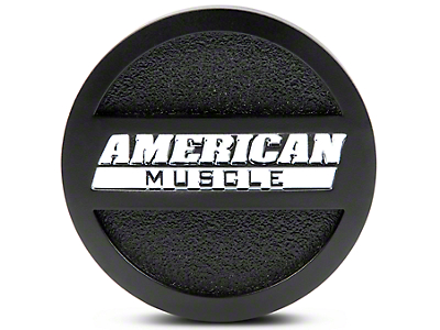 Matte Black American Muscle Center Cap - Large