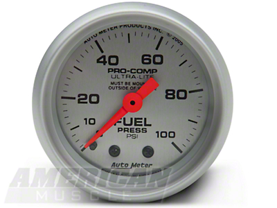 Auto Meter Pro-Comp Ultra-Lite Fuel Pressure Gauge - Mechanical (79-14 All)