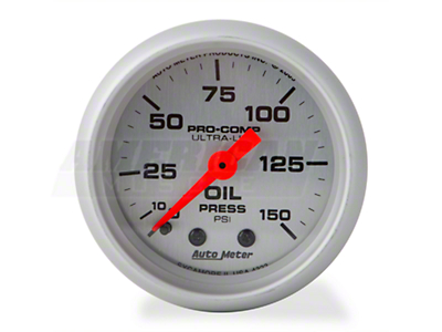 Auto Meter Pro-Comp Ultra-Lite Oil Pressure Gauge - Mechanical (79-14 All)