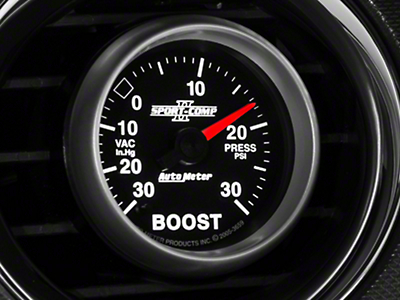 Auto Meter Sport Comp II Boost/Vac Gauge - 30psi Mechanical (79-14 All)