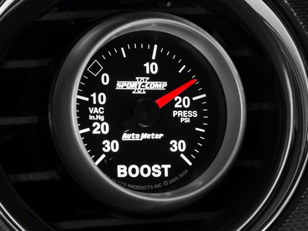 Auto Meter Sport Comp II Boost/Vac Gauge - 30psi Mechanical (79-14 All)
