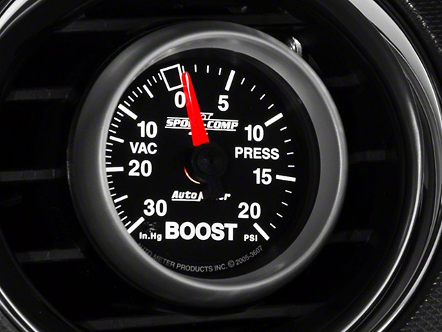 Auto Meter Sport Comp II Boost/Vac Gauge - 20psi Mechanical (79-14 All)