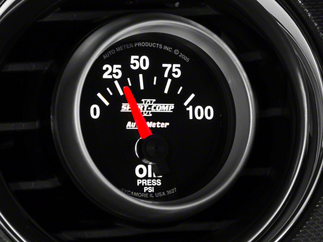 Auto Meter Sport Comp II Oil Pressure Gauge - Electric (79-17 All)