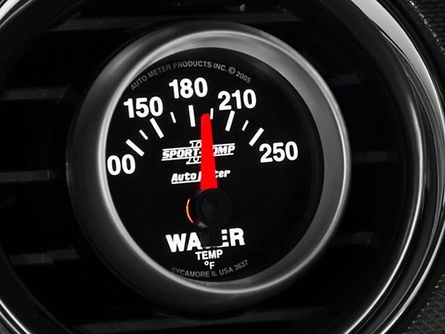 Auto Meter Sport Comp II Water Temp Gauge - Electric (79-14 All)