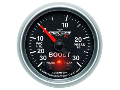 Auto Meter Sport Comp II Boost/Vac Gauge - 30psi Electric (79-14 All)
