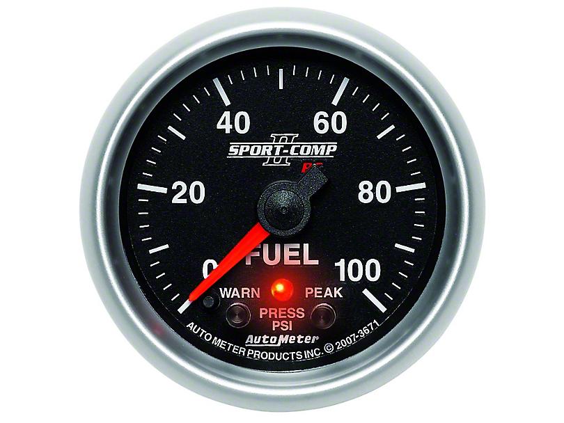 Auto Meter Sport Comp II Fuel Pressure Gauge - Electric (79-14 All)