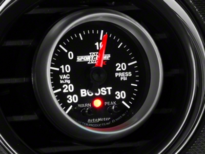 Auto Meter Sport Comp II Boost/Vac Gauge w/ Warning Light - Electric (79-14 All)