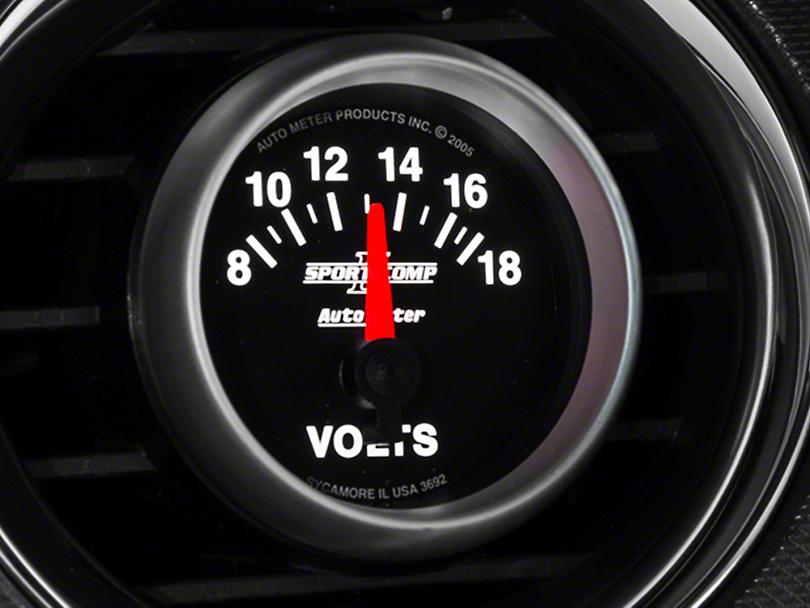 Auto Meter Sport Comp II Voltmeter Gauge - Electric (79-17 All)