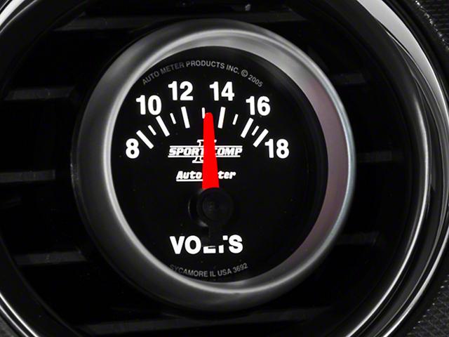 Auto Meter Sport Comp II Voltmeter Gauge - Electric (79-14 All)