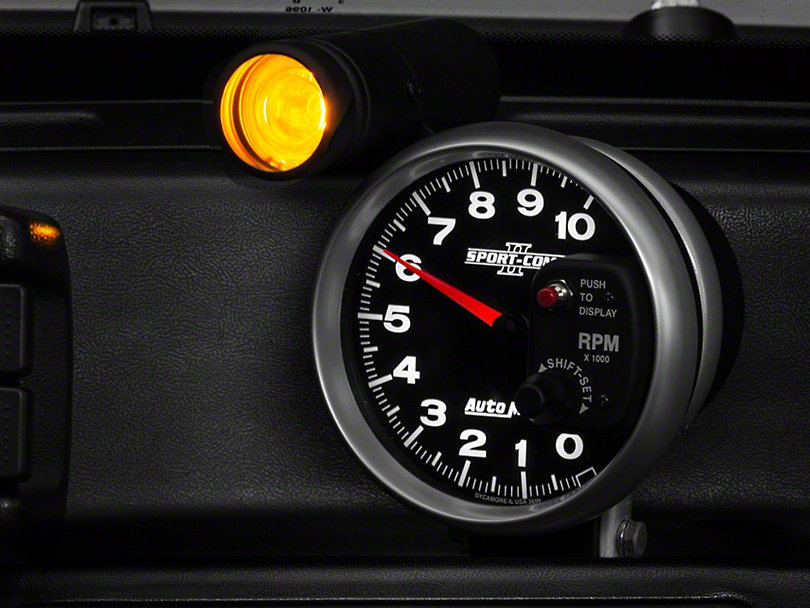 Auto Meter Sport Comp II 5 in. Tachometer w/ Shift Light (79-17 All)