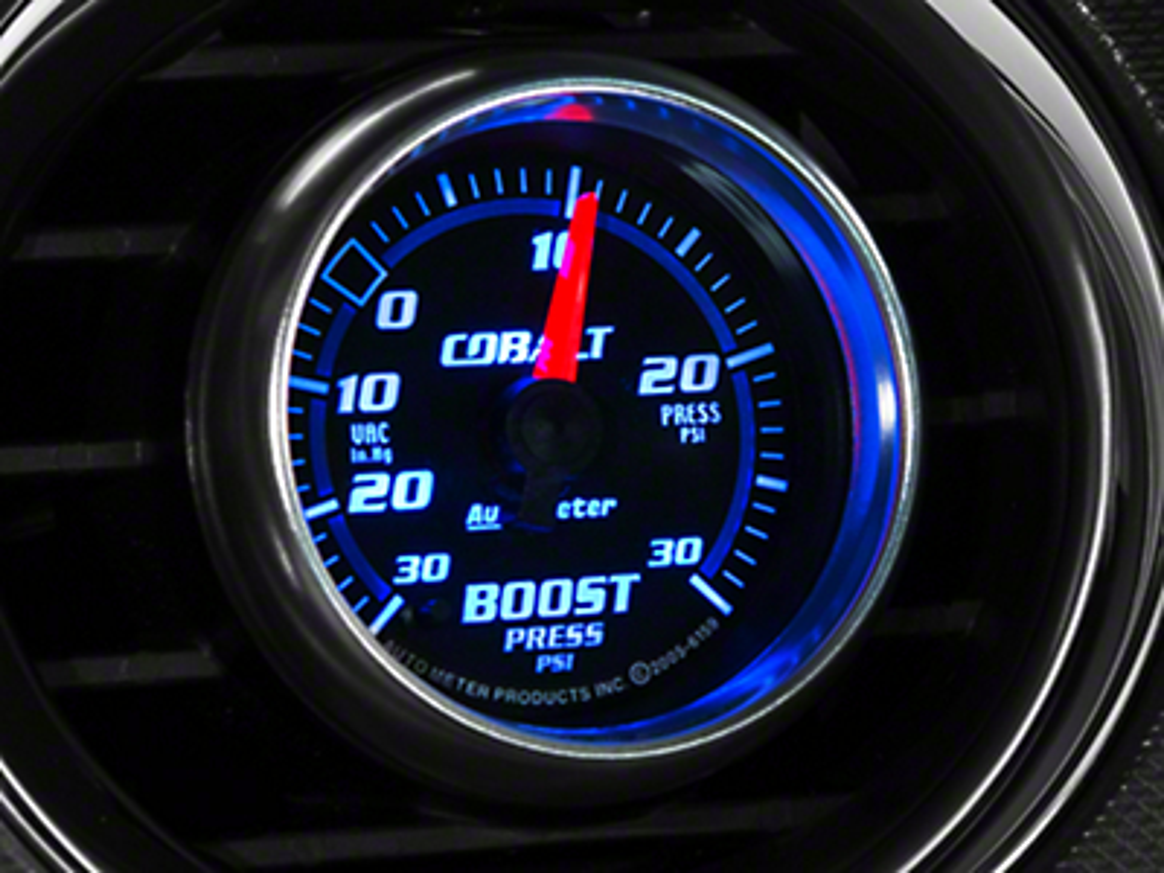 Auto Meter Cobalt Boost/Vac Gauge - 30 psi Mechanical (79-14 All)