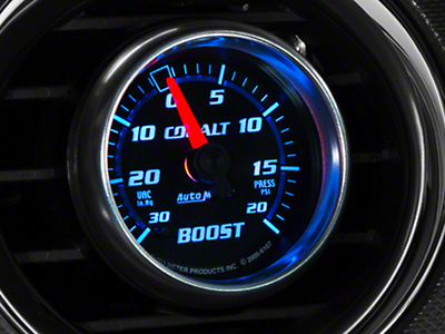 Auto Meter Cobalt Boost/Vac Gauge - 20 psi Mechanical (79-14 All)