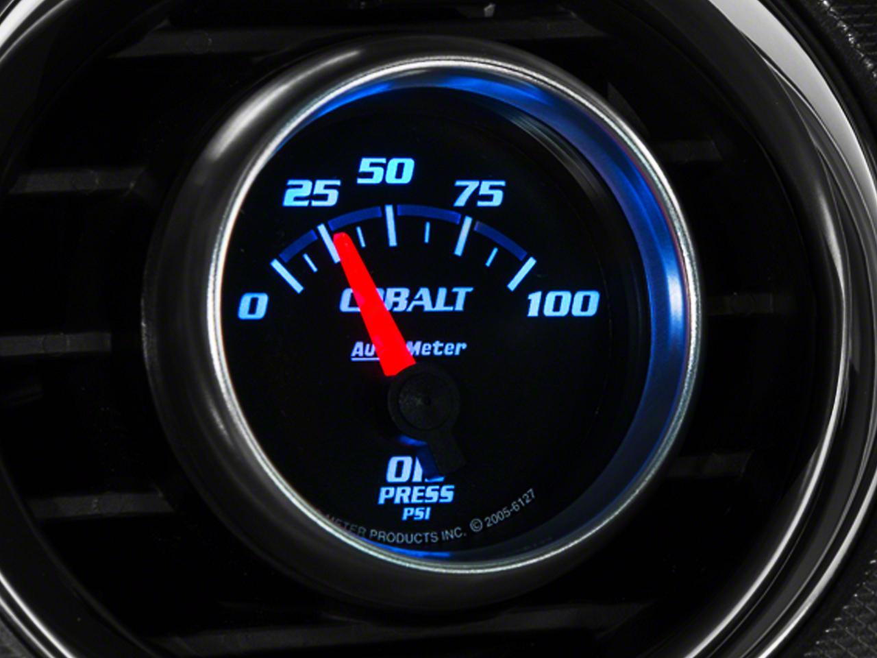 Auto Meter Cobalt Oil Pressure Gauge - Electric (79-14 All)