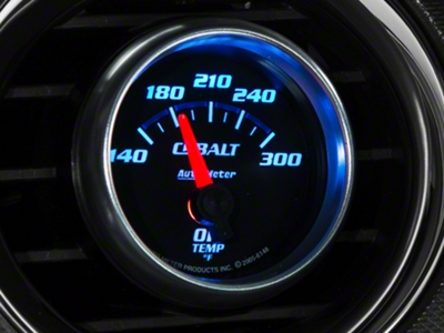 Auto Meter Cobalt Oil Temp Gauge - Electric (79-14 All)