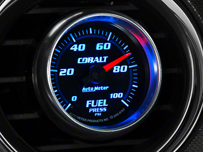 Auto Meter Cobalt Fuel Pressure Gauge - Electric (79-14 All)