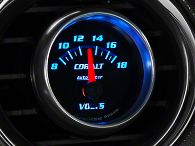 Auto Meter Cobalt Voltmeter Gauge - Electric (79-17 All)