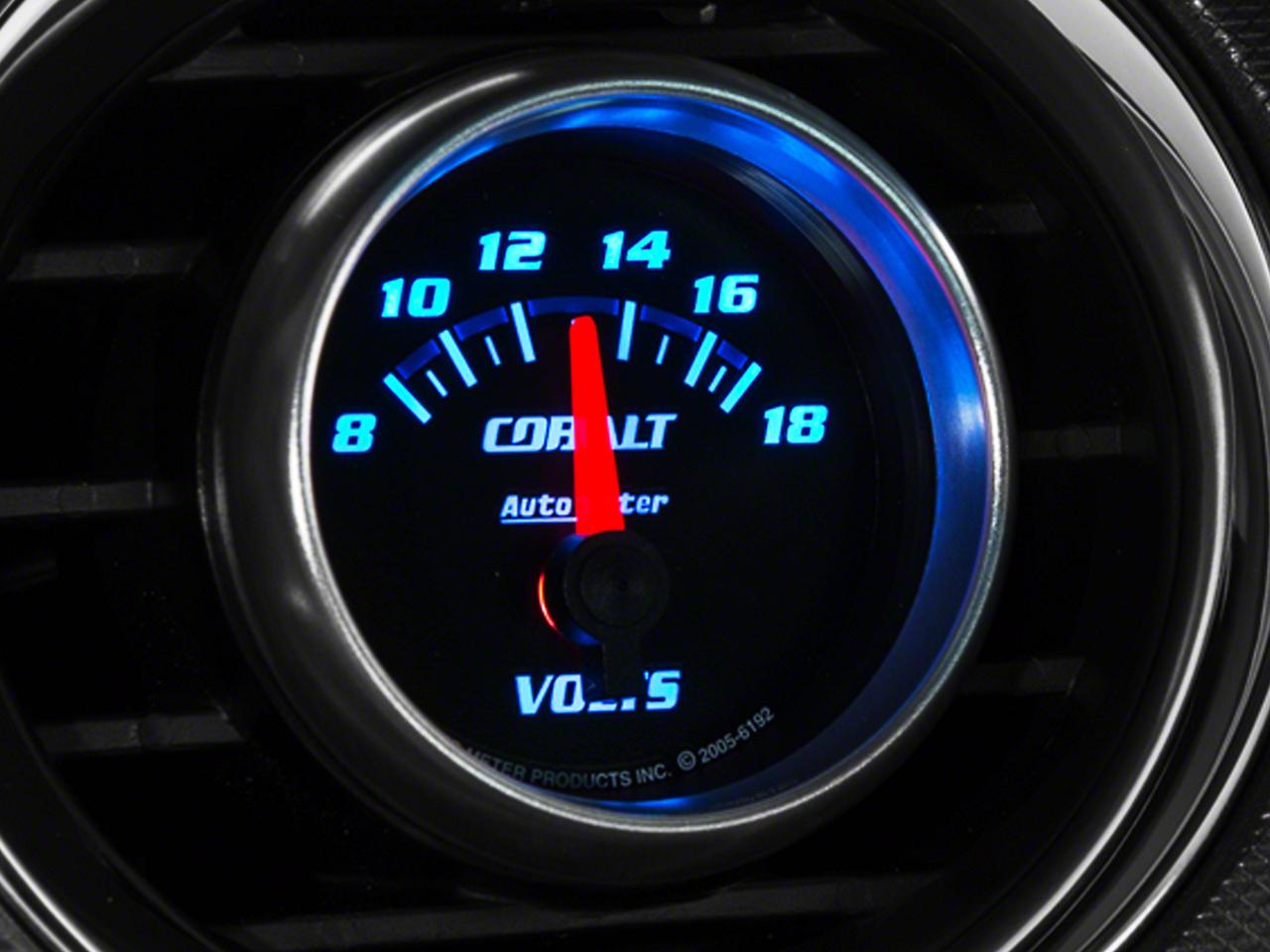 Auto Meter Cobalt Voltmeter Gauge - Electric (79-14 All)