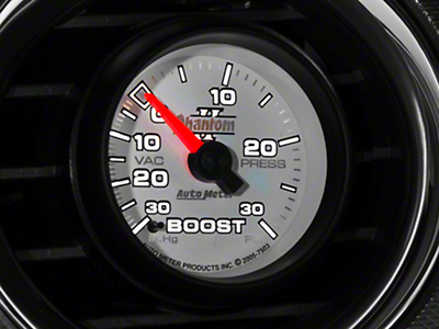 Auto Meter Phantom II Boost/Vac Gauge - 30 psi Mechanical (79-14 All)