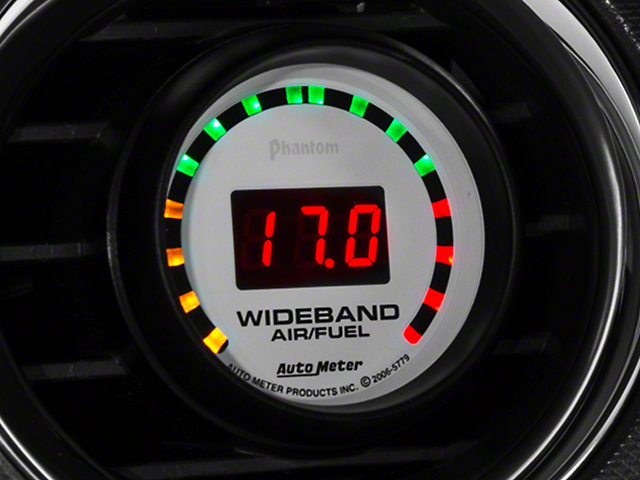 Auto Meter Phantom Wideband Air/Fuel Ratio Gauge - Digital (79-14 All)