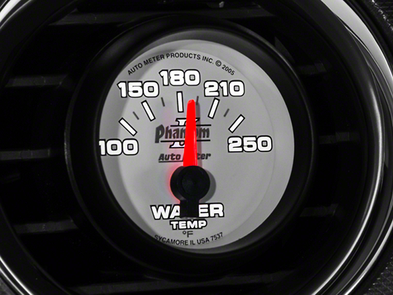Auto Meter Phantom II Water Temp Gauge - Electric (79-14 All)