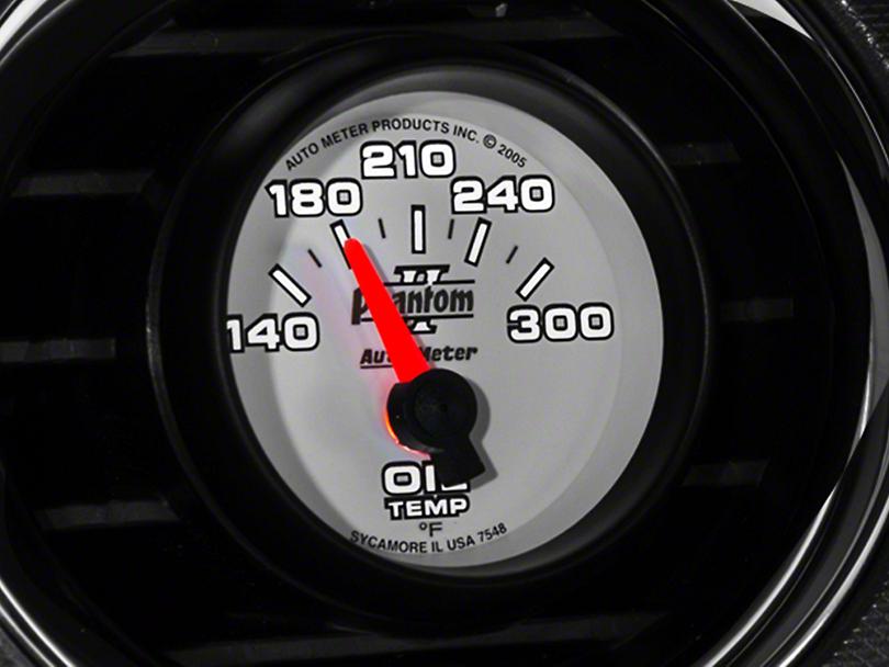 Auto Meter Phantom II Oil Temp Gauge - Electric (79-14 All)