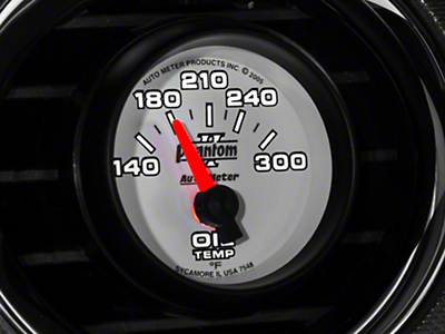 Auto Meter Phantom II Oil Temp Gauge - Electric (79-14 All)