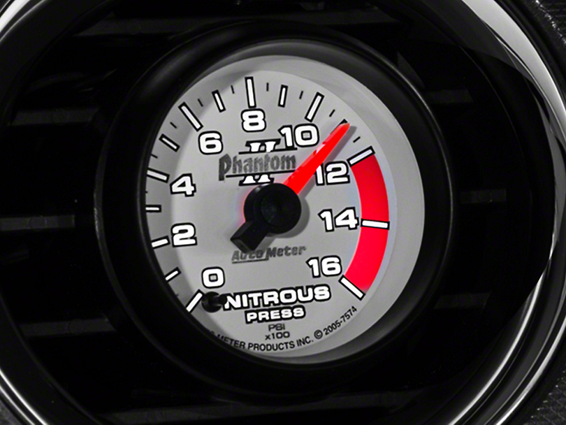 Auto Meter Phantom II Nitrous Pressure Gauge - Electric (79-14 All)