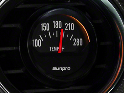 Sunpro Black Styleline Water Temp Gauge - Electric (79-14 All)