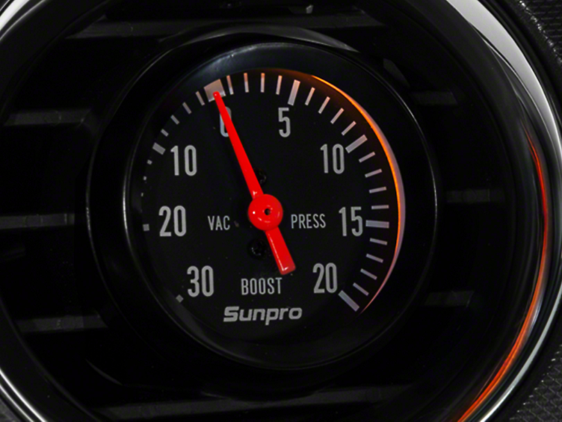Sunpro Black Styleline Boost/Vaccum Gauge - Mechanical (79-14 All)