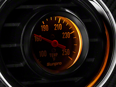Sunpro Black Styleline Temperature Gauge - Mechanical (79-14 All)