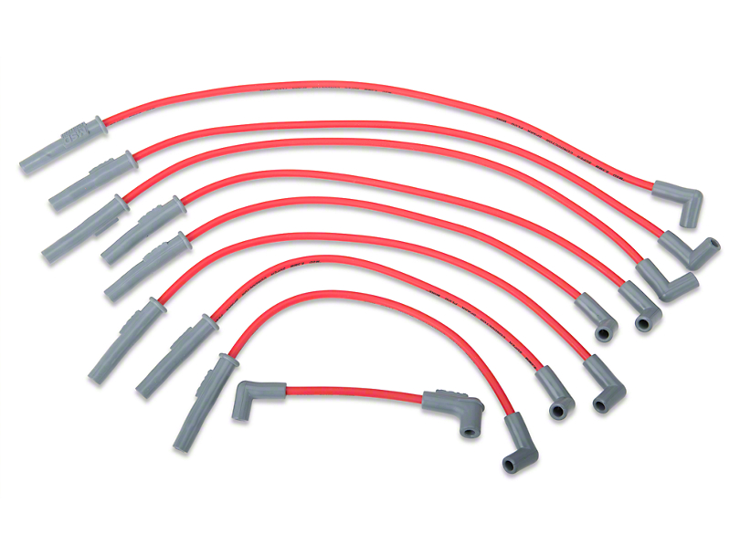 msd 8 5mm red super conductor mustang spark plug wires 32209 94 msd super conductor 8 5mm spark plug wires red 94 95 5 0l