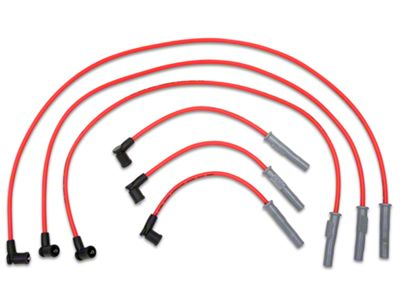 Add MSD Super Conductor 8.5mm Spark Plug Wires - Red (01-04 V6)