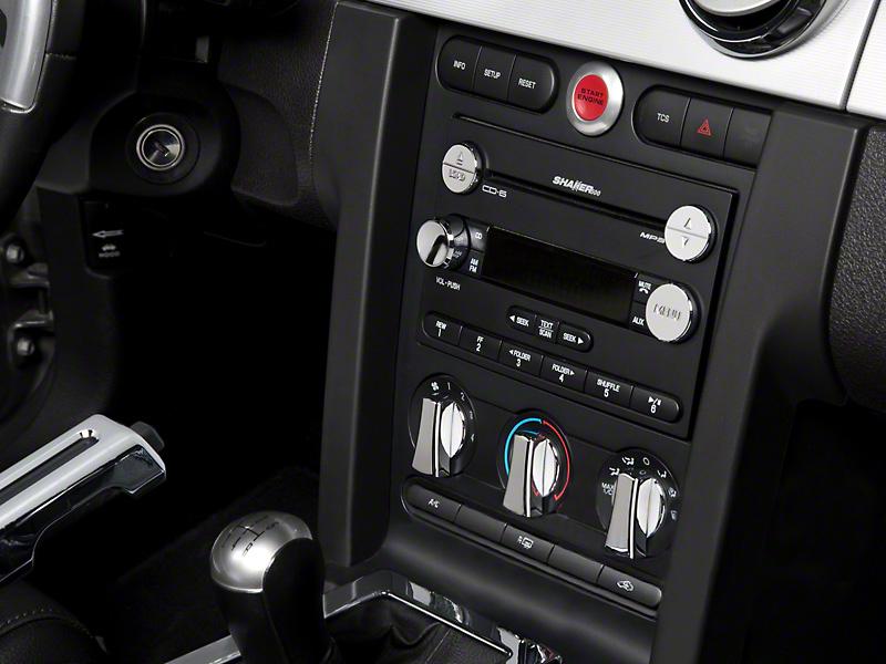 Modern Billet Chrome 3 Piece Radio Button Covers (05-09 All)