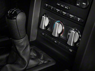 Add Modern Billet Satin A/C Knob Covers