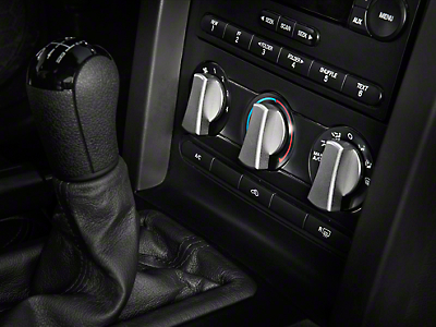 Satin A/C Knob Covers (05-09 All)