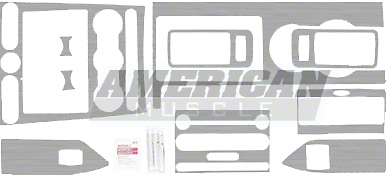 Steeda Brushed Aluminum Interior Trim Kit (05-10 All)
