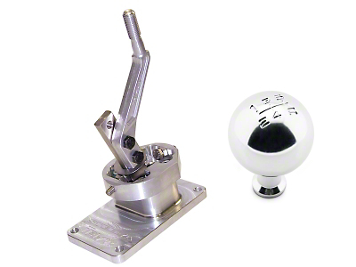 Steeda Tri-Ax Shifter and Mach 1 Shift Knob - T-5/T-45 (82-Early 01 V8; 93-99 Cobra; 94-04 V6)