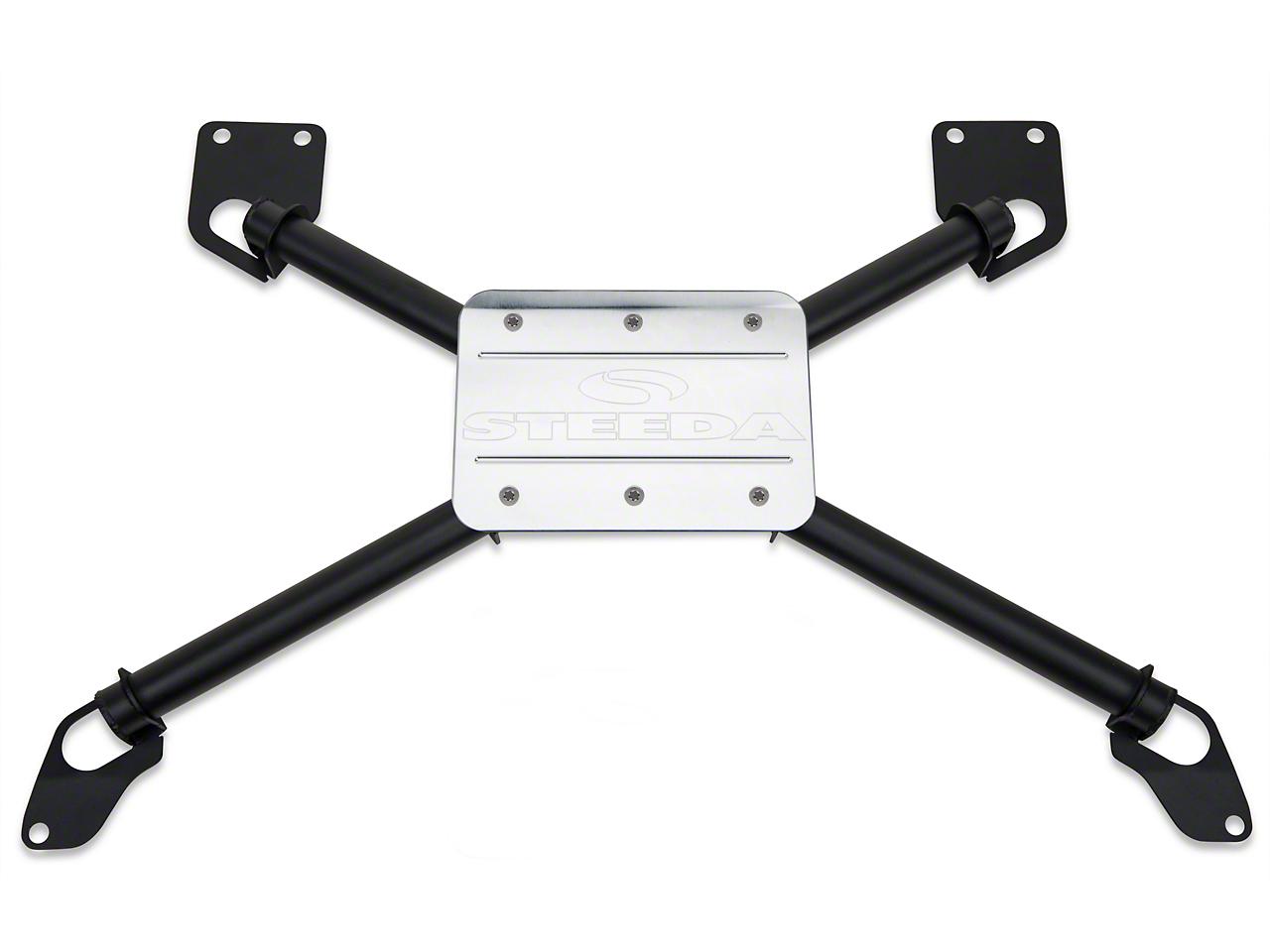 Steeda Rear Seat X-Brace w/ Plate - Coupes (05-14 All)