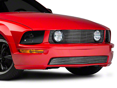 Modern Billet Polished Pony Delete Billet Grille - Upper (05-09 GT)