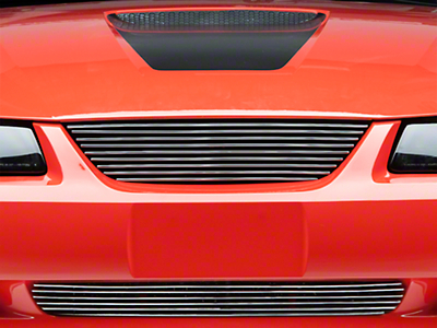 Modern Billet Polished Pony Delete Billet Grille - Combo (99-04)