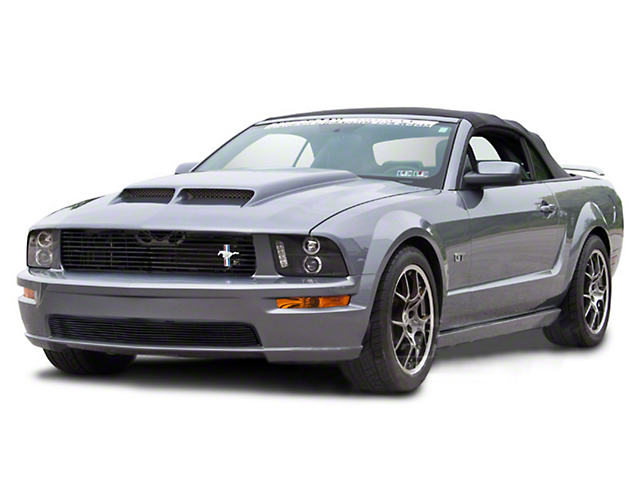 Modern Billet Black Retro-Style Tri-Bar Pony Billet Grille (05-09 GT)