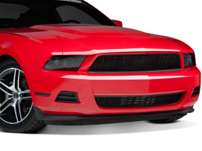 Modern Billet Black Pony Delete Billet Grille - Upper (10-12 V6)