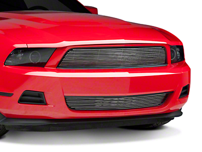 Modern Billet Polished Pony Delete Billet Grille - Combo (10-12 V6)