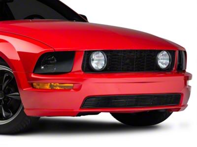 Modern Billet Black Pony Delete Billet Grille - Upper (05-09 GT)