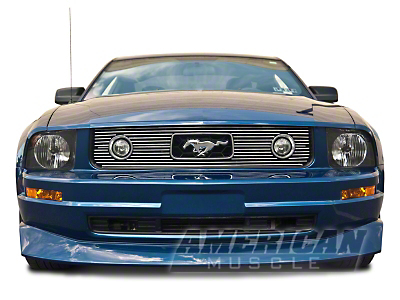 Polished Pony Package Billet Grille Combo Kit (05-09 V6)