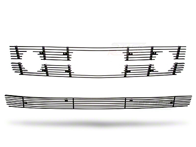 Black Pony Package Billet Grille Combo Kit (05-09 V6)